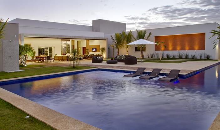 casa da piscina residencial galeria da arquitetura