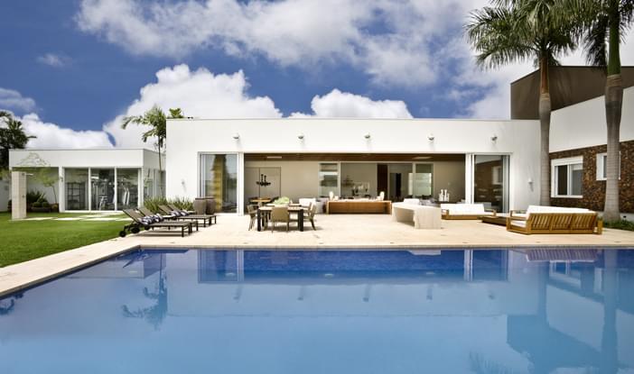 Casa t rrea residencial galeria da arquitetura for Projeto x piscina