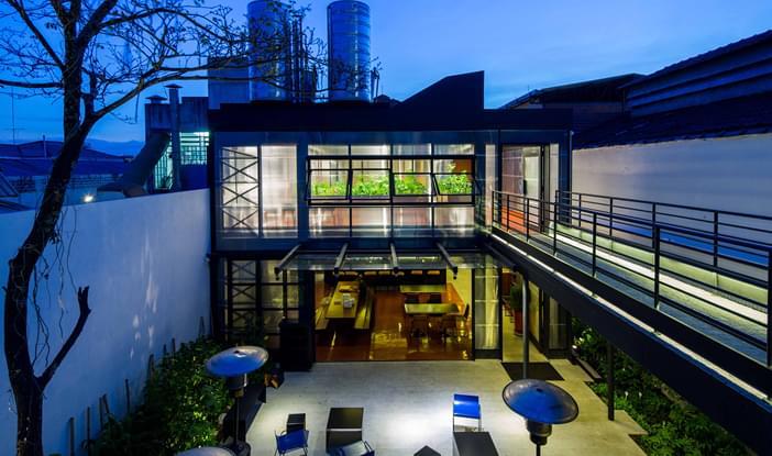 Restaurante tuju comercial galeria da arquitetura - Galeria comercial ...