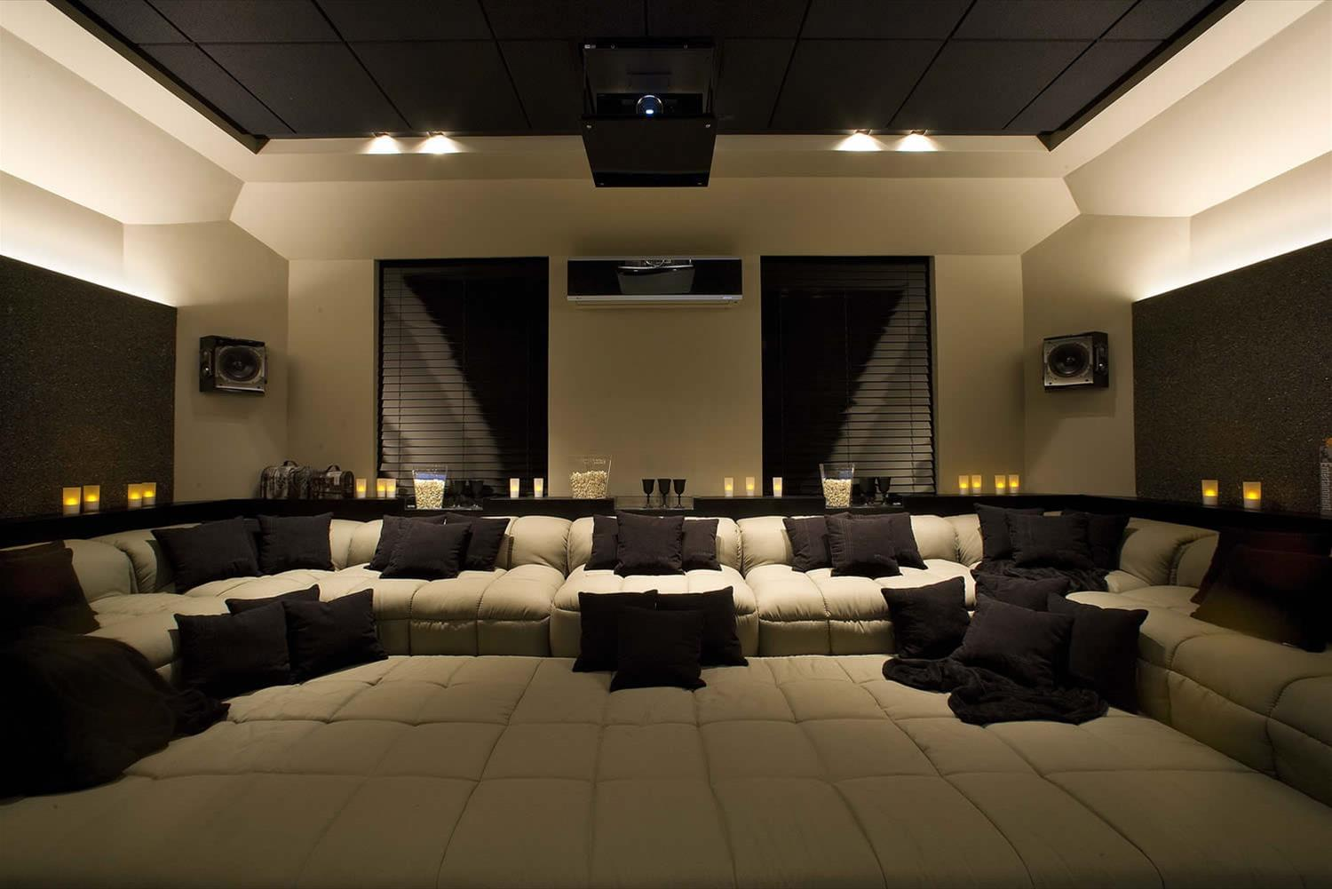 Home theater galeria da arquitetura - Sala home cinema ...