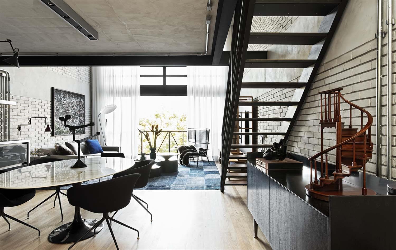 Industrial loft ii galeria da arquitetura - Loft industrial ...