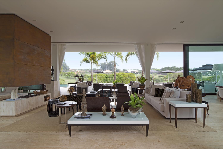 Resid Ncia Fazenda Boa Vista Galeria Da Arquitetura -> Casa Sala De Tv Sala De Jantar A Fazenda