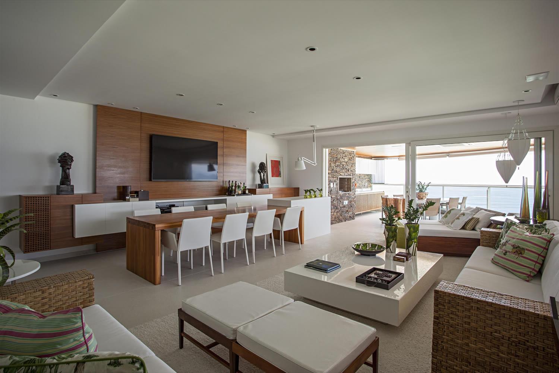 Apartamento Riviera De S O Louren O Galeria Da Arquitetura -> Acabamento Para Sala De Estar