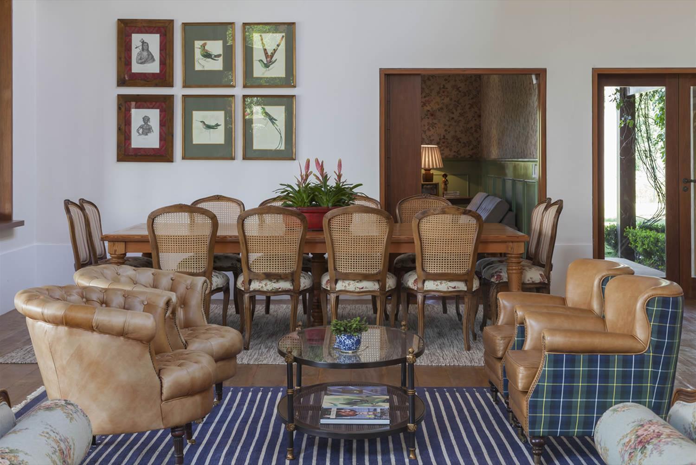 Fazenda Da Grama Galeria Da Arquitetura -> Casa Sala De Tv Sala De Jantar A Fazenda